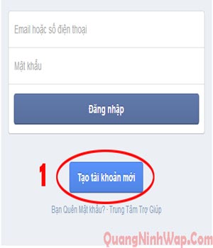 bước 1 dang ky facebook