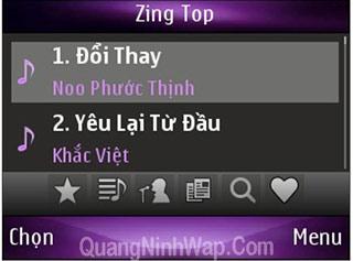 Ứng dụng Zing Mp3 nghe nhạc